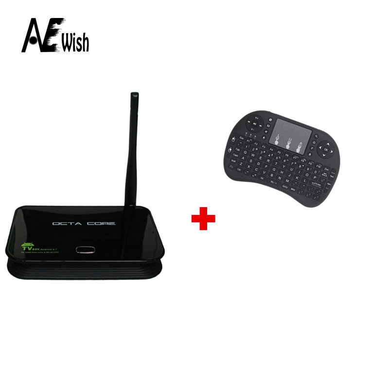 Anewish Z4 Android TV BOX 5.1 RK3368 64bits Octa core 4K 2GB/16GB 2.4G/5.8G Dual Wifi Gigabit Lan KODI +Free Mini i8 keyboard(China (Mainland))