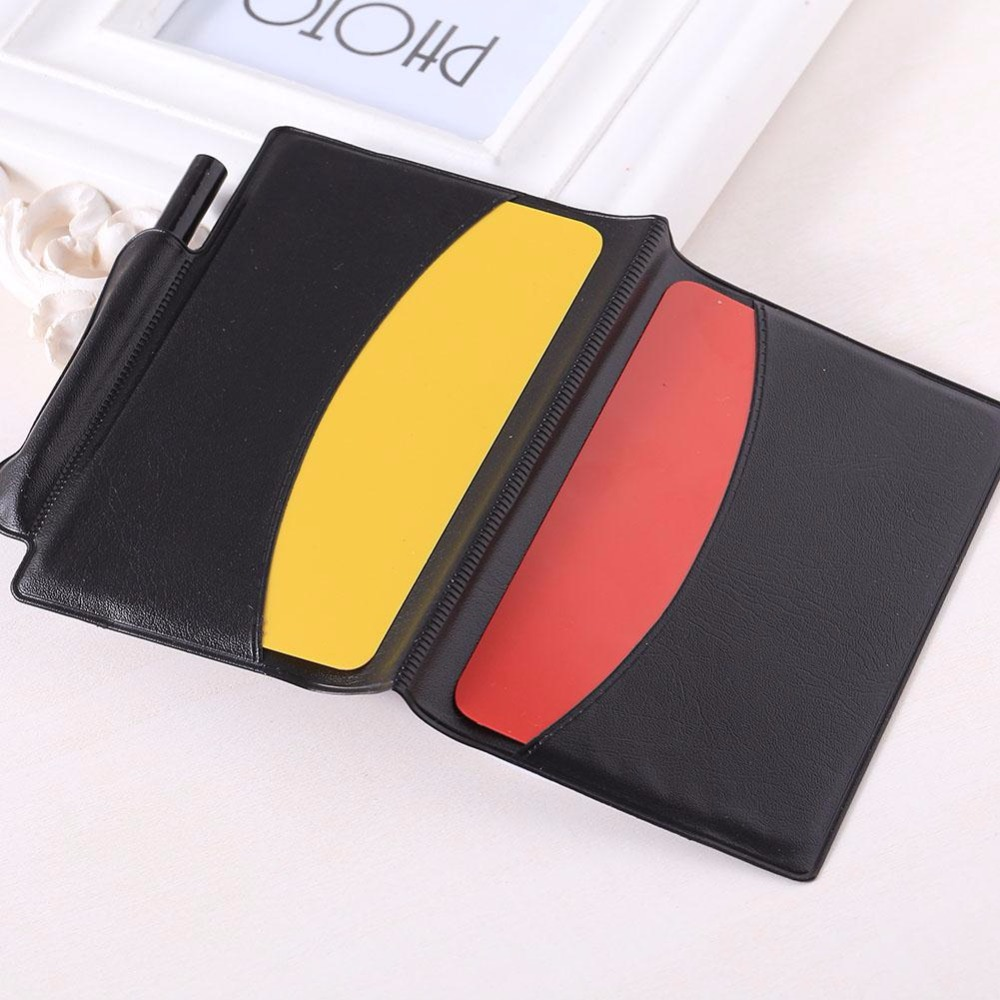 Football Referee Red Card Yellow Card Judge Case Soccer Wallet Pencil Notebook Set Professional Supplies equipment(China (Mainland))