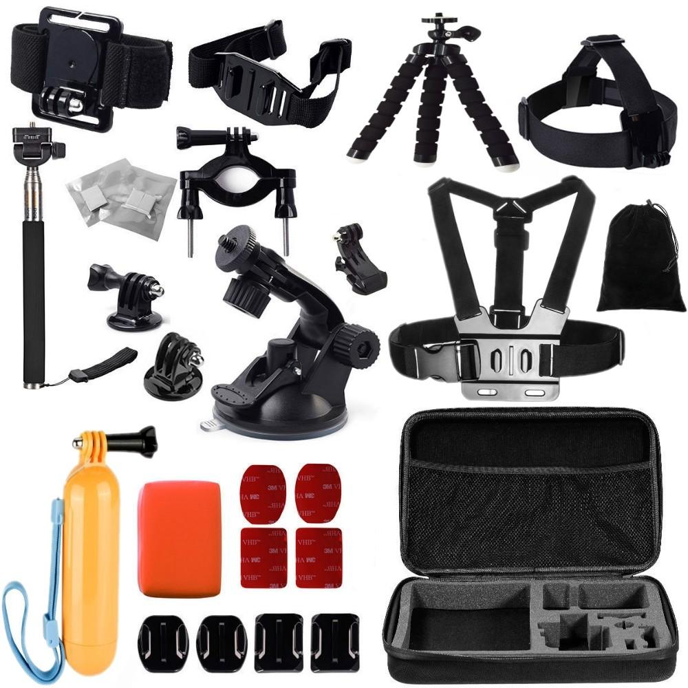 Gopro Accessories Set Go Pro Kit Mount For Sj4000 Hero 4 3 2 1 Floating Hand Grip Bobber Xiaomi Yi And Desc