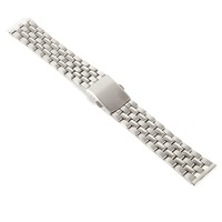 18mm 20mm 22 mm Stainless Steel Solid Link Watch Band Strap Bracelet Straight End Black Gold White Silver Band