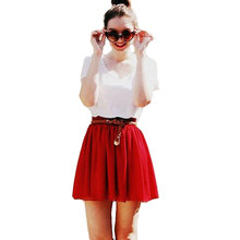 New Arrival Hot Sale Summer style vintage American apparel shirts womens high waist shirt adult tulle skirts