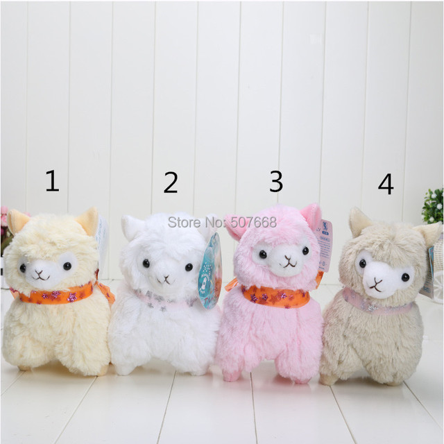 7inch Japanese Arpakasso amuse Sheep plush alpaca with tags 4colors Toy