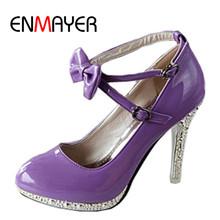ENMAYER Fashion Women High Heel Shoes Sexy Women Dress Shoes Rome Style Ankle Straps Platform Pumps Size 34-39(China (Mainland))