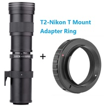 Buy Lightdow 420-800mm F/8.3-16 Super Telephoto Manual Zoom Lens + T2-Nikon T Mount Ring Adapter Nikon D5100 D7000 D800 D90 D600 for $94.95 in AliExpress store
