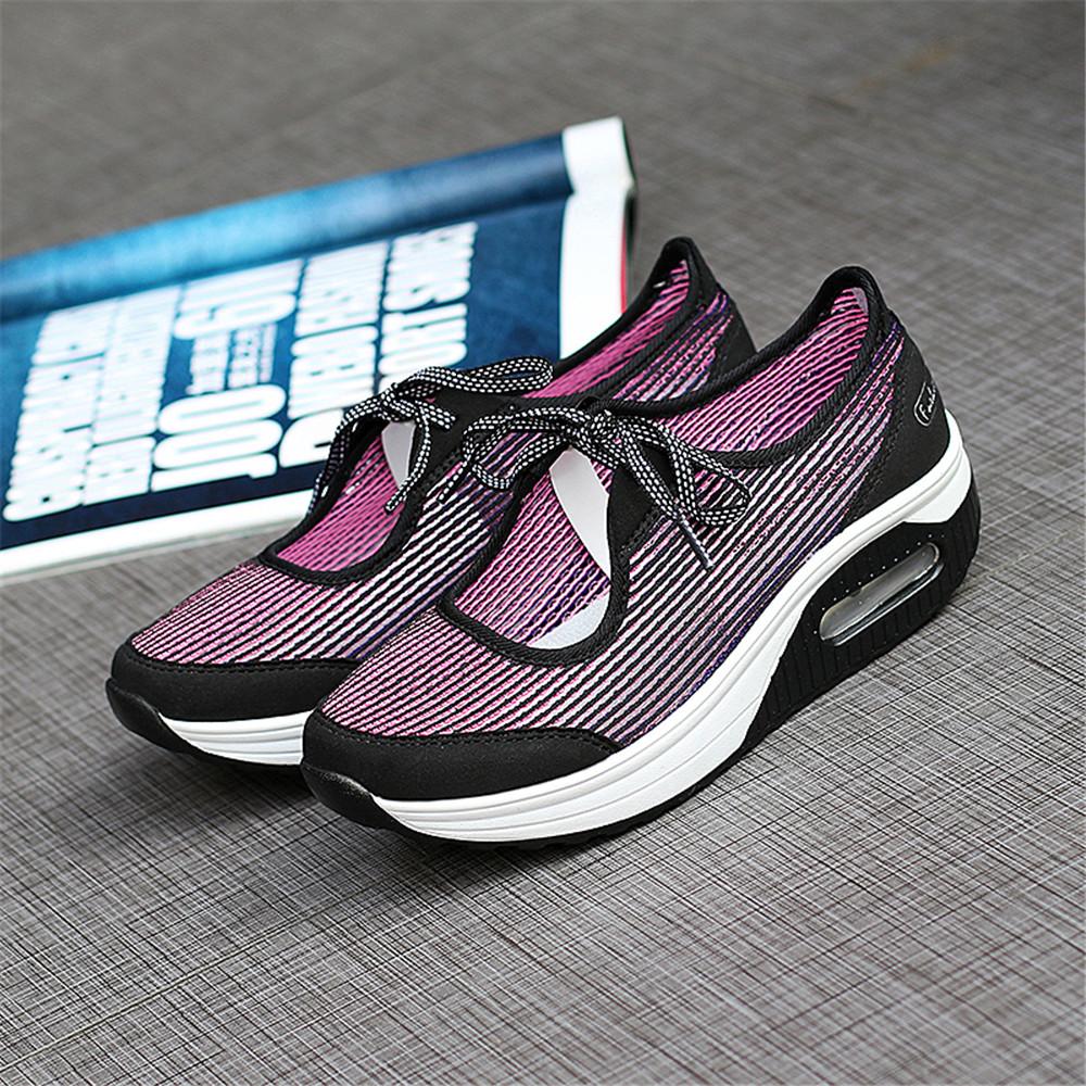 2017 Spring Women Mesh Casual Shoes Women Platform Shoes New Fashion Platform Sandals Heel Ladies Shoes(China (Mainland))