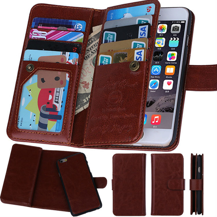 Multi-Function Fashion Leather Wallet Phone Case iPhone 6 4.7 Pritective Card Slots Cover Apple iPhone6 Plus - Yours Mobile Accessories SuperStore store