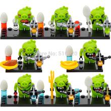 Birds Cute Cartoon Minifigures 8pcs/lot Building Blocks Set Models Figures Bricks Toys For Children