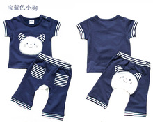 Buy Mom's care Summer 2 PCS Set Baby Clothes 100% Cotton Short Sleeves T Shirt + Pants Childrens Suit Infant Boys Girls Sets for $6.57 in AliExpress store