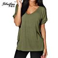 New Solid V Neck Shirt Women Casual Plain Basic shirts Woman Tops Cotton Short Sleeve shirt