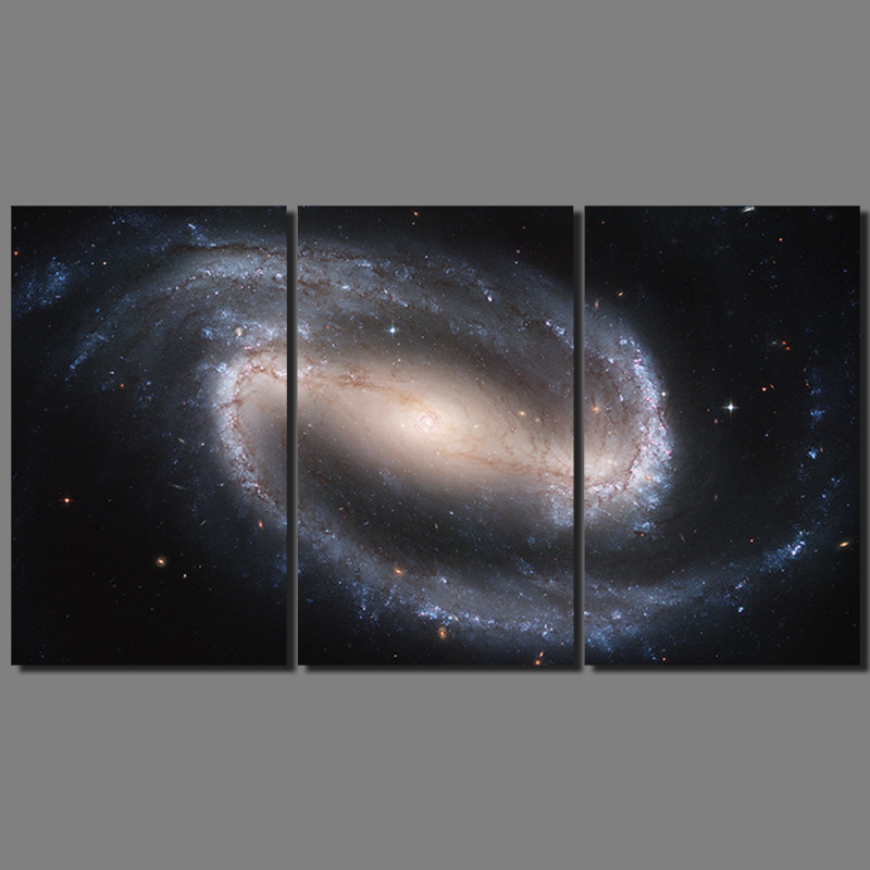 3 pcs Fashion Cool Black stars Milky Way picture decoration canvas universe painting wall Art living room home decor unframed(China (Mainland))