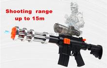 Envío gratis Nerf Gatling Gun agua Crystal bala airsoft. rango 15 m Flash Classic Toys para niños niños