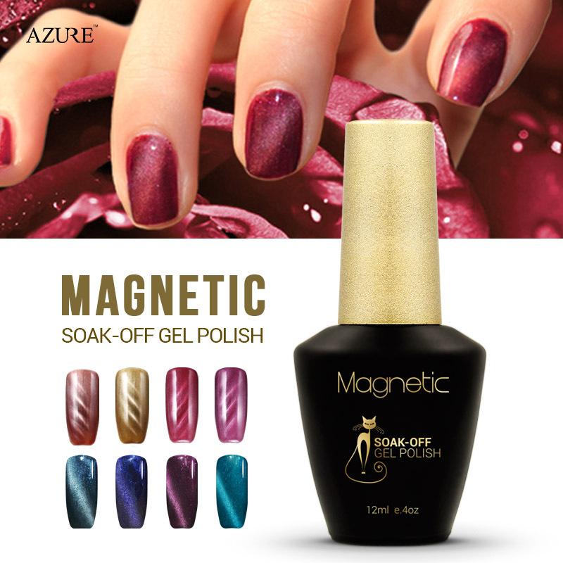 Brand Azure fashion magnet gel soak off UV gel polish cat eyes nail gel polish UV gelpolish 48 colors available free shipping(China (Mainland))