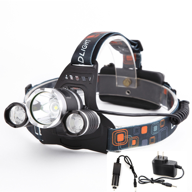 5000 Lumens 3*CREE T6 LED  Frontal Headlamp
