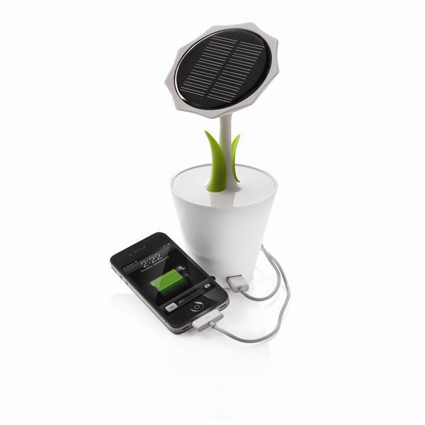 100% Original XD Solar Sunflower charger 2500mAh for Mobile phone,Solar Sunflower Power bank with home/office decoration flowers(China (Mainland))