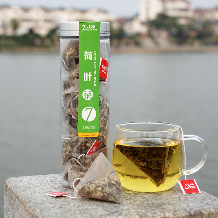 The seven season of lotus leaf tea Green Tea process selling factory direct supply of tea flowers and tea triangle<br><br>Aliexpress