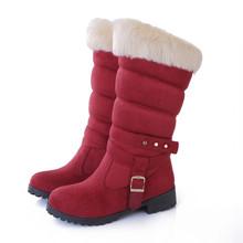 Nuevo estilo de la moda de las mujeres zapatos casuales botas de nieve caliente invierno de la piel cuero de la pu botas de tacón bajo punky martin botas botas térmicas felpa(China (Mainland))