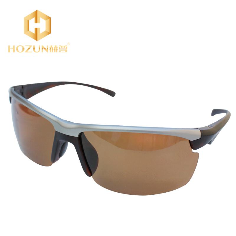 HOZUN 2015 Fashion Polarized Sunglasses Men Eyewear UV Protection Driving Eyewear Polaroid Brown Glass LM022 Z30(China (Mainland))