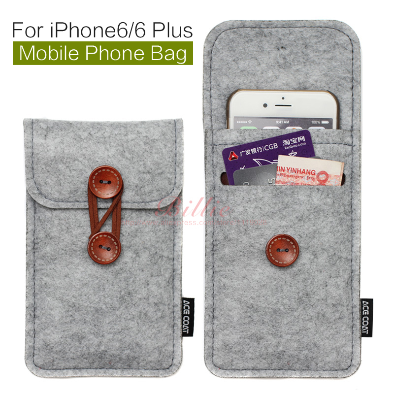 phone bag For iPhone 6 Plus 5.5 inch case For iPhone 6 4.7 inch bags mobile phone bags cases Case Cover Wool Felt Wallet(China (Mainland))