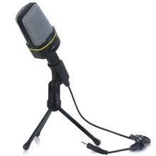 2017 New Professional Condenser Sound Wired Microphone Microfone with Stand Holder Clip for Chatting Singing Karaoke PC Laptop(China (Mainland))