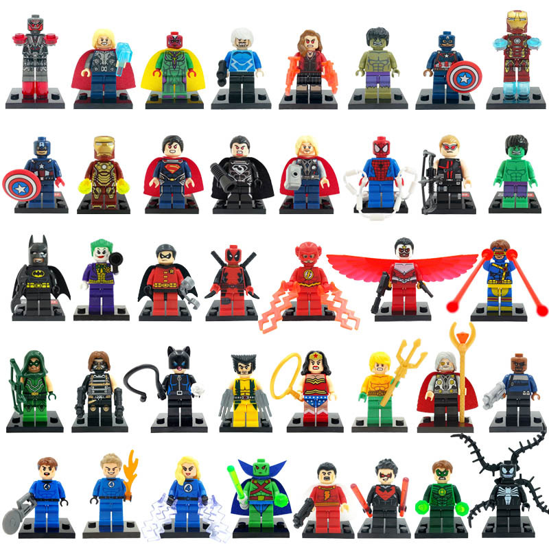 Minifigures For Individually Sale Marvel DC Super Heroes Avengers Batman Building Blocks Sets Model Bricks Toys Lego Compatible(China (Mainland))