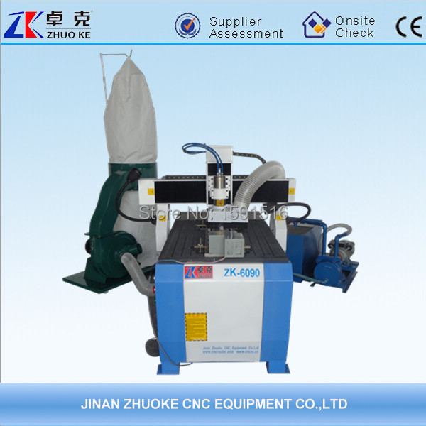 2.2KW spindle Mach3 with vacuum pump,dust collector, acrylic cnc machine 6090(China (Mainland))