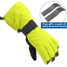 professional ski gloves waterproof gloves warm windproof cycling gloves women men for snowboarding skiing Size S-XL(China (Mainland))