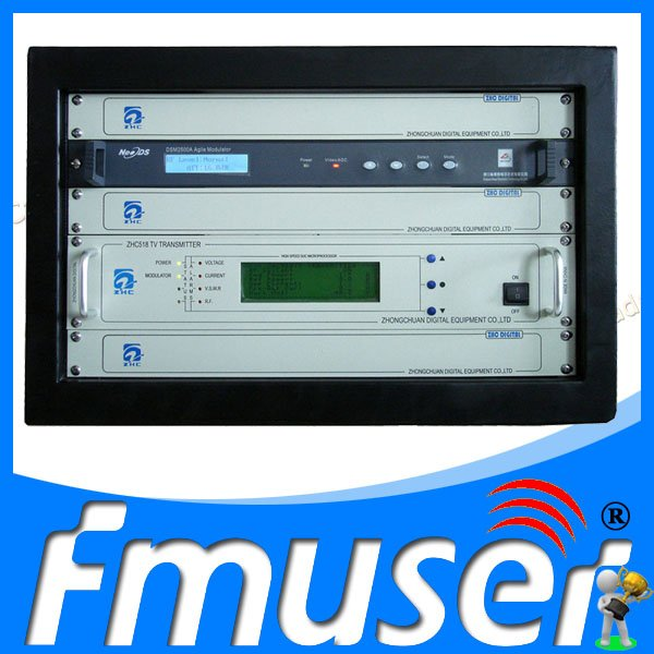 50W VHF UHF All Solid State TV Signal Broadcast Transmitter Digital TV Station Broadcasting Equipment(China (Mainland))