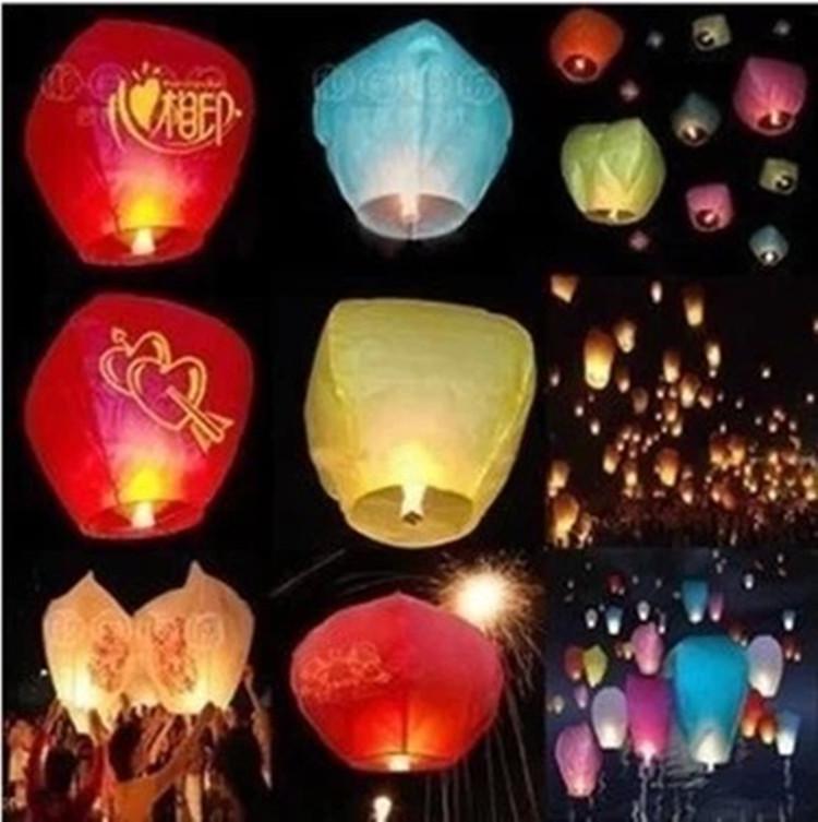 10pcs Halloween Sky lights Kong Ming Balloons Wishing Lanterns Flying Light Halloween FestiveChinese Sky Lantern Air balloon(China (Mainland))