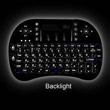 Rii mini i8 Russian  Keyboard Air Mouse Multi-Media Remote Control Touchpad Handheld for Smart TV Box Xbox360 PS3