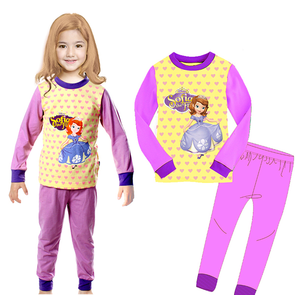 Autumn New Children Sleepwear Long Sleeve Tops T Shirt Pants Cartoon Baby Kids Pajama Boys Pyjamas Pijama<br><br>Aliexpress
