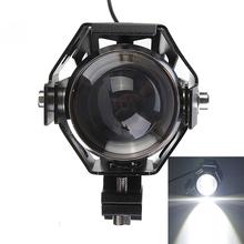 2x CREE U5 125W 3000LM Waterproof Motorcycle LED Headlight High Power Spot Light Free shipping(China (Mainland))