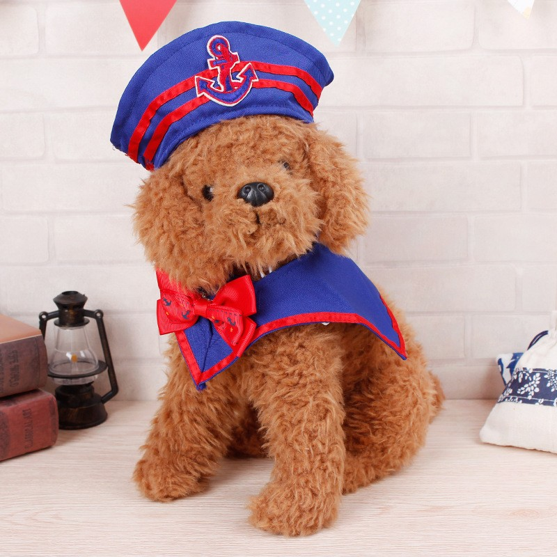 Pet dog cat transfiguration role-playing Navy bow tie suit Christmas pet gift clothes hat cosplay transfiguration Free Shipping
