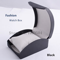 Wholesale Plastic Watch Box Black High Grade Brand Watch Case With Pillow Fashion Luxury Brand Watch
