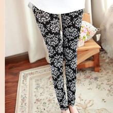 Yomsong Multi Patterns Women Skinny Legging Pant Stripe Grid Porcelain Geometry Pencil Legwear(China (Mainland))