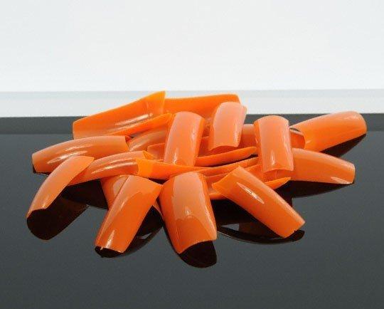 SHIP FROM USA - 500 Orange Color Nails Tips False Nail Art Tips Acrylic Nail Fake Nails SKU:USA0258(China (Mainland))