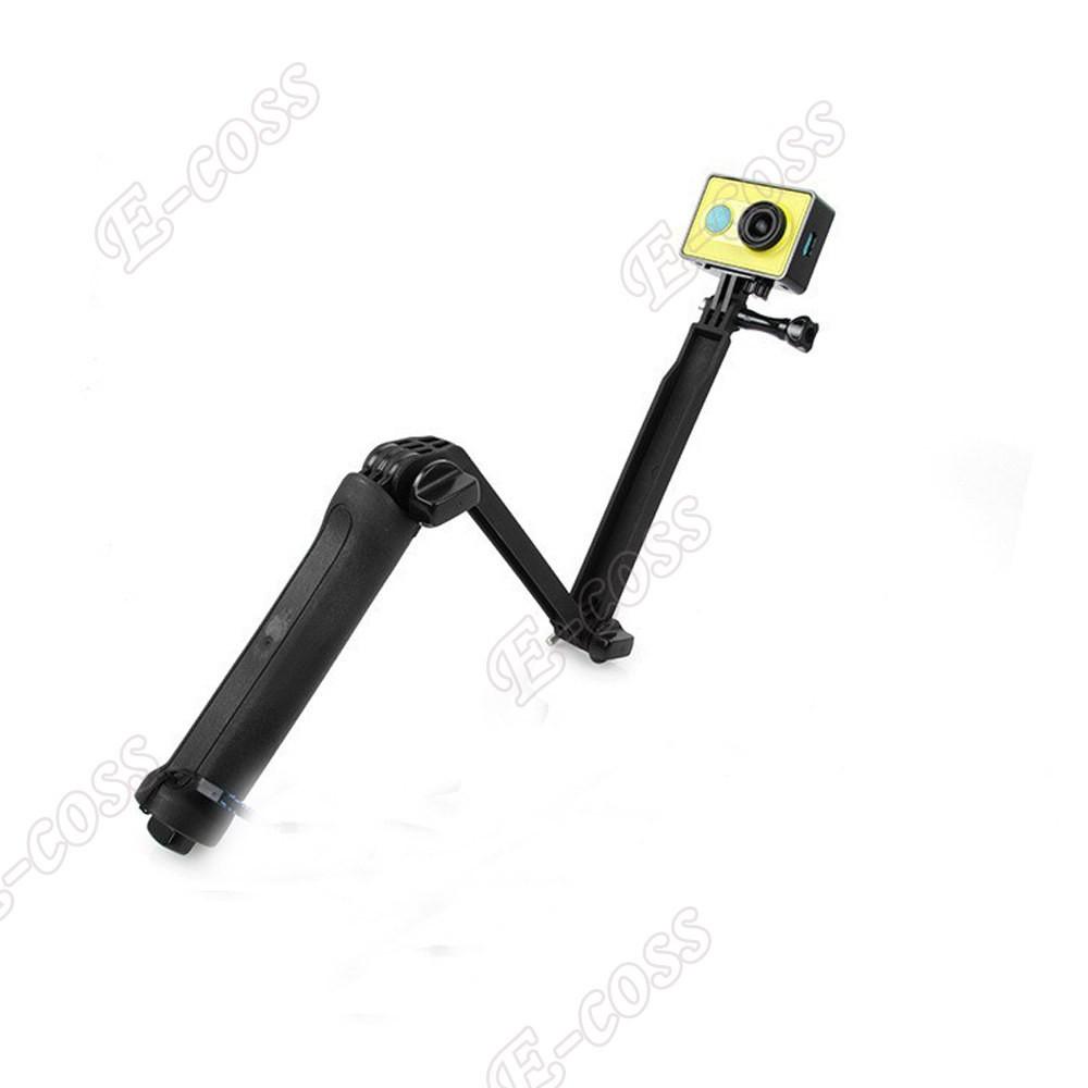 GoPro 3-way Folding Arm Monopod Tripod Handheld selfie stick For Gopro Hero 4 Hero 3+hero3 SJ4000 xiaomi yi 4k Accessories mount