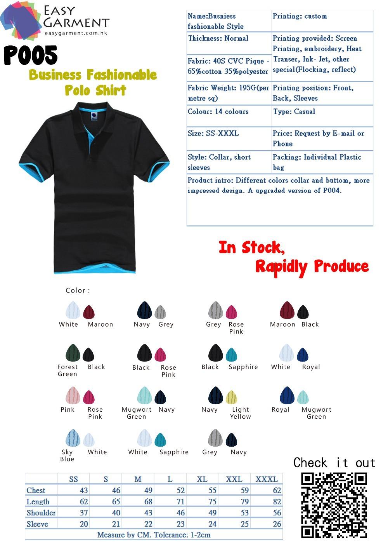 Custom Design Tailor made Logo Printing CVC Contrast Color Short Sleeves Polo Shirt(China (Mainland))