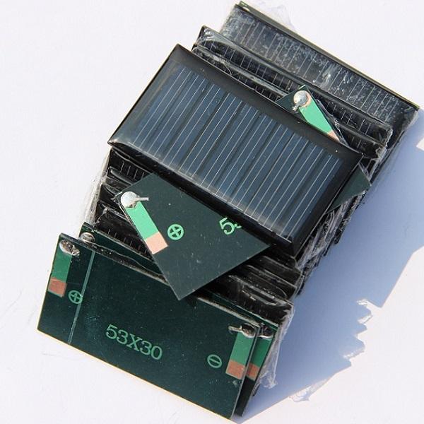 Wholesale 30mA 53X30mm Small Power Solar Cell Solar Panel For 3.6V Battery DIY Panel Education Kits 350pcs/lot Free Shipping(China (Mainland))