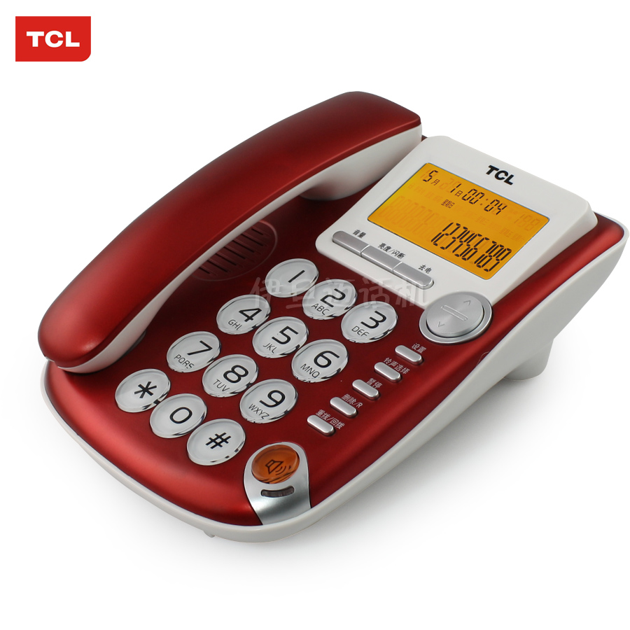 Tcl 207 telephone battery backlight large screen big button dual interface the old man machine landline phone home(China (Mainland))
