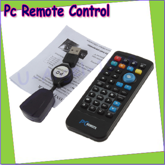 Wholesale 1pcs USB Media Wireless Mouse Remote Control Controller For Loptop PC Computer Center Windows Xp Vista 18m Distance(China (Mainland))