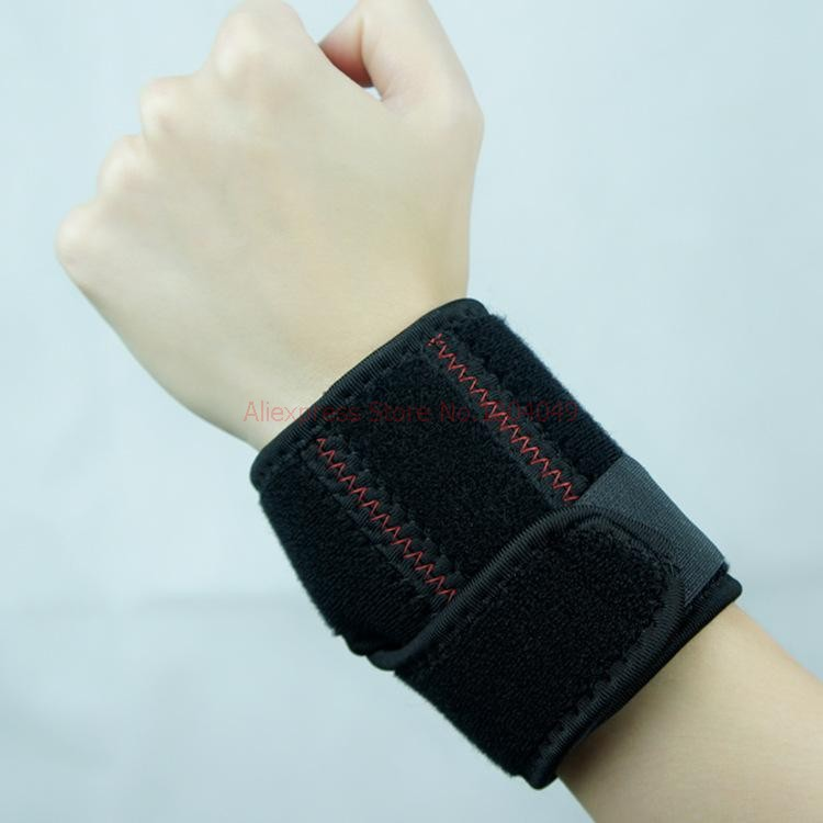 Free Shipping 1 Pair Adjustable Neoprene Wrist Hand Support, Two Elastic straps, Palm Brace Sports(China (Mainland))