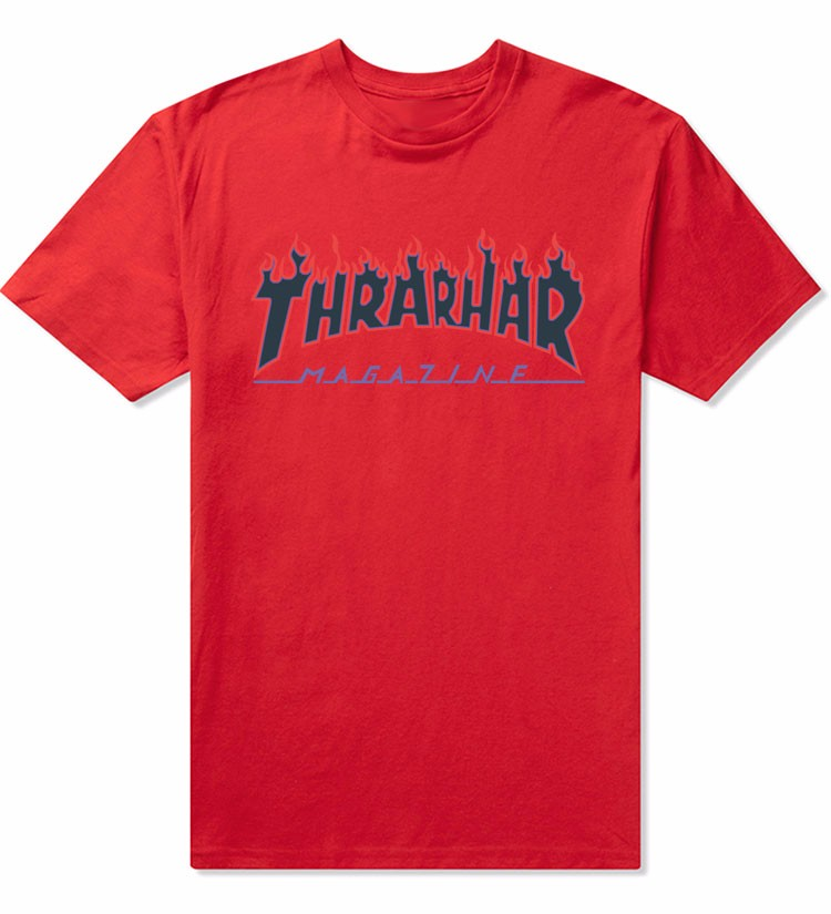 Thrasher Flame Blaze T-Shirt Men Women Skateboards T Shirt Short Sleeve 100% Cotton Skate Tshirts Hip Hop Man Shirts Tops Tees