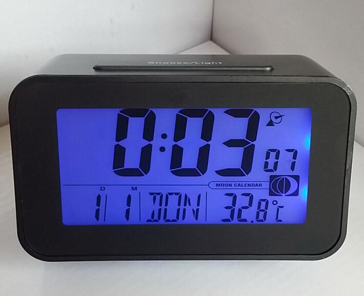 Изменение цвета цифровой будильник стол гаджет цифровой сигнализации термометр ночь светящийся куб жк-часы