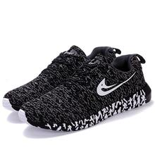 Men Women Running Shoes Flynit Men's Women's Sneakers Super Light Sports Shoes Breathable Footwear Jogging Walking Shoes(China (Mainland))