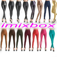 Womens Faux Leather High Waist Leggings W3019