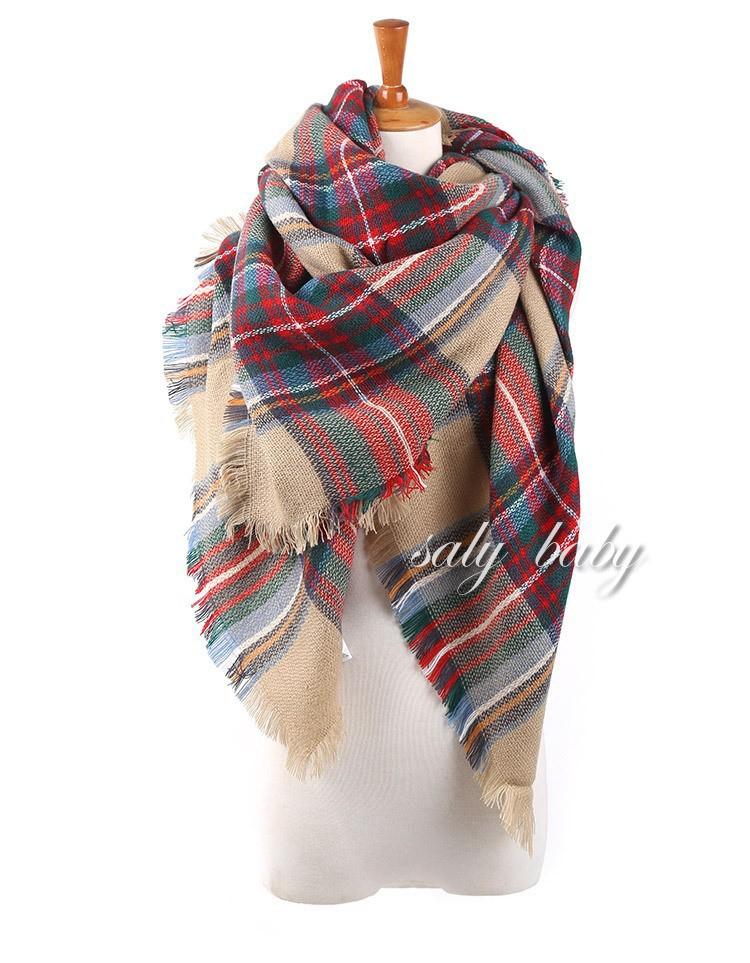 za women winter scarfs 2014 Desigual Plaid Scarf New Designer Unisex Acrylic Basic Shawls Women's Scarves Big Size 140 *140 CM(China (Mainland))