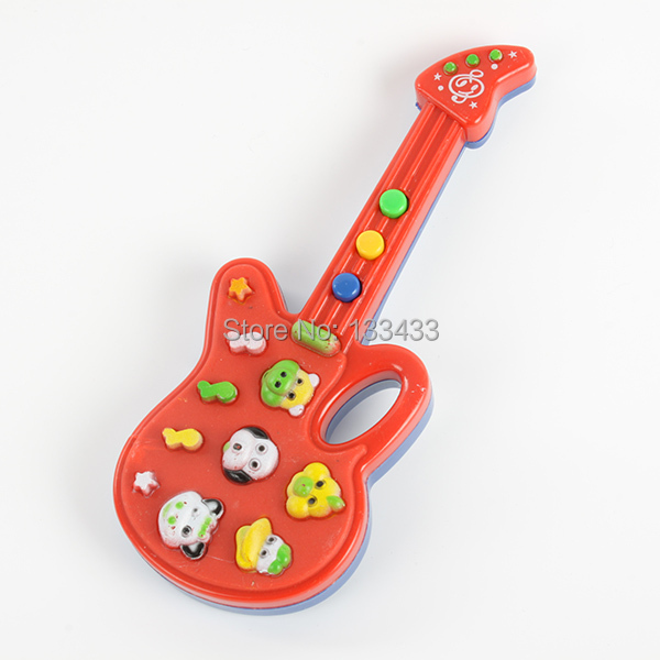New Cute Electronic Guitar Toy Nursery Rhyme Music Toy Child Infant Boys Girls(China (Mainland))