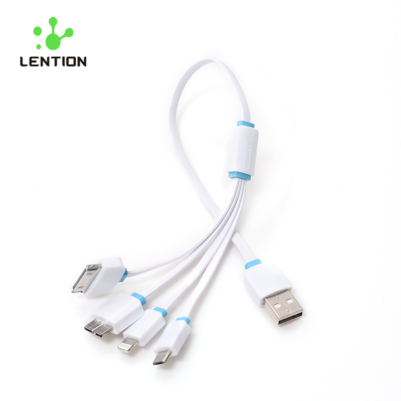 4 In 1 Fast Charging Original Flex Mobile Phone USB Charger Cable 8/30 Pin For iPhone 4s/5/5s/6/6s/Plus/iPad Samsung S5 Note 3(China (Mainland))