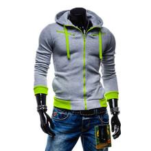Hot Sale 2015 Autumn & Winter Fashion Casual Slim Cardigan Hoodies Sweatshirt Outerwear Jackets Men Brand Solid Color Coat