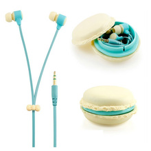 Zerowin Cute 3.5mm in Ear Earphones Earbuds Headset with Macaron Earphone Organizer Box Case for Iphone,for Samsung,for Mp3 Ipod(China (Mainland))